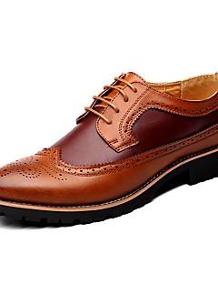 Bărbați Pantofi Piele Primăvară Vară Toamnă Iarnă Confortabili pantofi Bullock Oxfords Dantelă Pentru Casual Negru Maro Galben