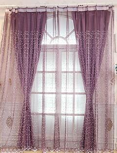 billige Gjennomsiktige gardiner-Gardiner Skygge Stue Geometrisk Prikker Polyesterblanding