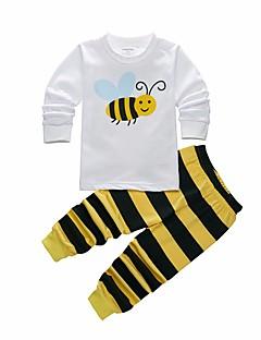 preiswerte Unterwäsche & Socken für Jungen-Jungen Schlafanzüge Tierwelt Polyester Langarm Zeichentrick Weiß