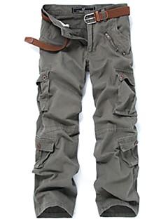 tanie Odzież turystyczna-Męskie Spodnie cargo Na wolnym powietrzu Wiatroodporna, Zdatny do noszenia Zima Spodnie Multisport / Elastyczny / a