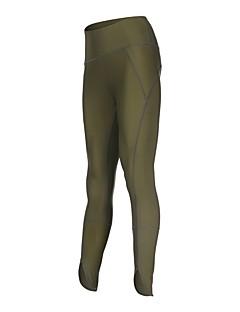 billige Løbetøj-Dame Løbetights - Sort, Kakifarvet Sport Modal Tights / Leggins Sportstøj Hurtigtørrende