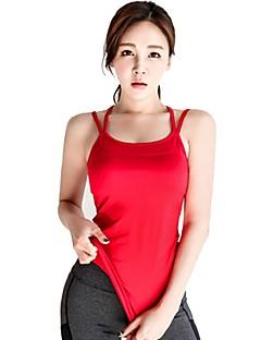 billiga Träning-, jogging- och yogakläder-Dam Öppen Rygg / Med remmar Linne för jogging - Röd sporter Linne Yoga, Fitness, Gym Sportkläder Mateial som andas Elastisk