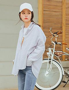 preiswerte Damen-Oberteile-Damen Gestreift Hemd, Hemdkragen Baumwolle