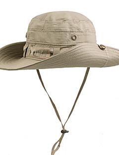 tanie Odzież turystyczna-Czapka z filtrem UV Czapka przeciwsłoneczna Lato Odporny na promieniowanie UV Outdoor Exercise Dla obu płci Bawełna Jendolity kolor