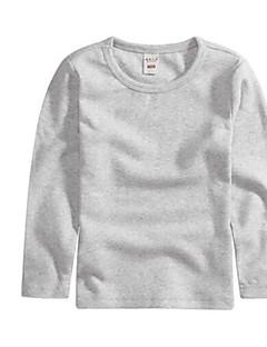 tanie Odzież dla chłopców-T-shirt Inne Dla dziewczynek Dla chłopców Jendolity kolor Wiosna Jesień Długi rękaw Urocza Niebieski Blushing Pink Gray Yellow Khaki