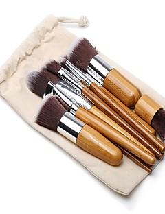 billiga Sminkborstar-11 st Makeupborstar Professionell Borstsatser / Rougeborste / Ögonskuggsborste Nylonborste Miljövänlig / Mjuk / Fullständig Täckning