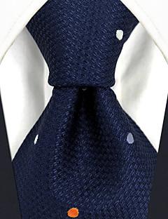 billige Slips og sløyfer-menns festverk rayon slips - polka dot farge blokk jacquard
