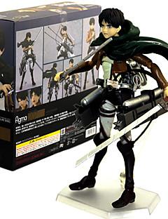 billige Anime cosplay-Anime Action Figurer Inspirert av Attack on Titan Eren Jager PVC 14 CM Modell Leker Dukke
