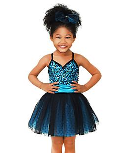 Χαμηλού Κόστους Χορός της κοιλιάς-Παιδικά Ρούχα Χορού Φορέματα Επίδοση Spandex Ελαστικό Τούλι Βελούδο Ελαστικό Σατέν Με πούλιες Παγιέτες Αμάνικο Φυσικό Φόρεμα Καλύμματα