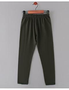 tanie Odzież dla dziewczynek-Spodnie Nylon Dla dziewczynek Jendolity kolor Jesień Zwyczajny White Black Blushing Pink Army Green Granatowy