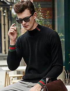 tanie Męskie swetry i swetry rozpinane-Męskie Na co dzień Pulower - Nadruk Długi rękaw