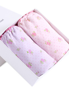 billige Undertøj og sokker til piger-Pige Undertøj Blomstret Blomster/botanik, Bomuld Alle årstider Simple Mikroelastisk Blå Lyserød Lilla Gul