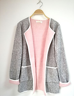 cheap Women's Sweaters-Women's Long Sleeves Cardigan - Color Block