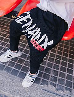tanie Odzież dla chłopców-Spodnie Wełna Bawełna Włókno bambusowe Dla chłopców Codzienny Jendolity kolor Wiosna Prosty Vintage Black