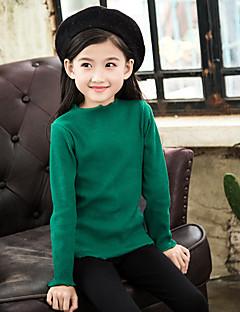 cheap Girls' Clothing-Girls' Solid Sweater & Cardigan, Cotton Winter Green Blushing Pink Yellow