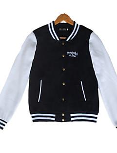 baratos Moletons com Capuz e Sem Capuz Femininos-Mulheres Algodão Jacket Hoodie - Estilo vintage Estampado, Sólido Colarinho Chinês