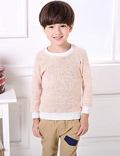 billige Sweaters og cardigans til drenge-Drenge Trøje og cardigan Ensfarvet, Bomuld Hør Bambus Fiber Forår Kortærmet Vintage Rød