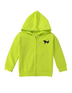 tanie Odzież dla dziewczynek-Bluzka Bawełna Dla obu płci Jendolity kolor Wzór zwierzęcy Wiosna Długi rękaw Light Green Light Blue Granatowy