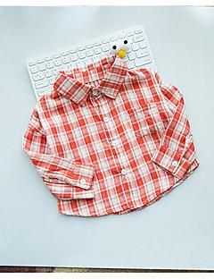 billige Babyoverdele-Baby Pige Skjorte Bomuld Langærmet Normal Grøn Rød