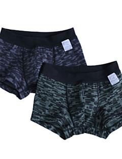 billige Undertøj og sokker til drenge-Drenge Undertøj Ternet camouflage, Bomuld Alle årstider Simple Mikroelastisk Sort Rød