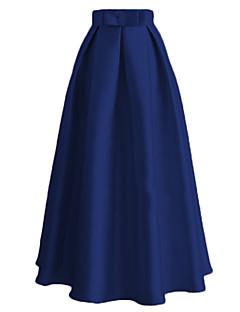 baratos Costumes étnicas e Cultural-Saia Mulheres Festival / Celebração Trajes da Noite das Bruxas Roupa Azul / Rosa / Vermelho Sólido Étnico Fashion