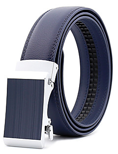 cheap Fashion Handbags & Accessories-Men's Party Work Casual Leather Alloy Waist Belt - Solid Colored, Metal Pure Color
