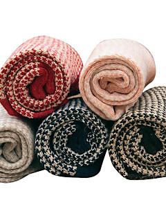 billige Moteundertøy-Dame Normal Strømper Normal Ensfarget Fargeblokk Lapper Bomull Polyester,5 Regnbue