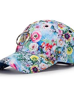 billige Trendy hatter-Unisex Fritid Baseballcaps,Alle årstider Blomstret Polyester Blå Rød Lilla