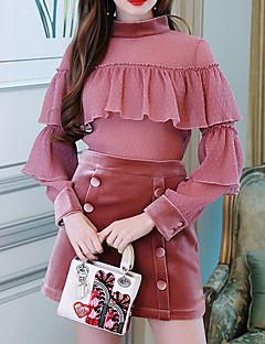 billige Skjorte-Dame - Ensfarvet Bomuld Skjorte