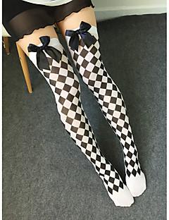 billige Sokker og strømper til damer-Dame Strømper - Blonder Sexy, Trykt mønster Tynn