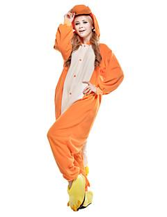 billige Kigurumi-Voksne Kigurumi-pysjamas Drage Onesie-pysjamas Kostume Polar Fleece / Syntetisk Fiber Oransje Cosplay Til Pysjamas med dyremotiv Tegnefilm Halloween Festival / høytid