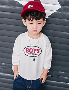 billige Hættetrøjer og sweatshirts til drenge-Drenge Hættetrøje og sweatshirt Ensfarvet, Bomuld Forår Alle årstider Langærmet Simple Grøn Hvid Mørkegrå