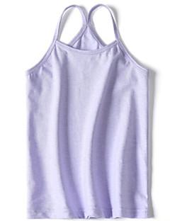 billige Undertøj og sokker til piger-Pige Undertøj Ensfarvet, Bomuld Sommer Simple Mikroelastisk Grøn Hvid Lilla Gul