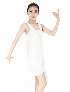 billige Ballettantrekk-Ballett Kjoler Dame Ytelse Spandex Elastisk Mesh Paljetter Strå Kryssdrapering Ermeløs Naturlig Kjole Hodeplagg