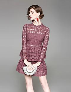 Χαμηλού Κόστους EWUS-Γυναικεία Γραμμή Α Θήκη Φόρεμα - Συμπαγές Χρώμα, Βασικό