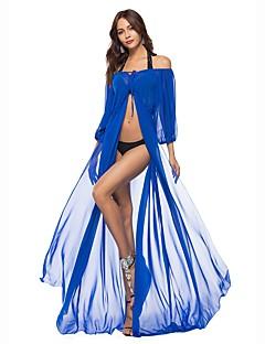 cheap Maxi Dresses-Women's Beach Loose Tunic Swing Dress - Solid Color Maxi Off Shoulder