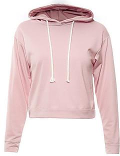 tanie Damskie bluzy z kapturem-Damskie Sportowy Bluza z Kapturem - Jendolity kolor