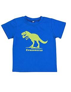 billige Barns Moteklær-Baby Gutt T-skjorte Ensfarget Bomull Sport og friluft Blå