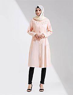 baratos Costumes étnicas e Cultural-Vestido árabe Abaya Vestido Kaftan Mulheres Festival / Celebração Trajes da Noite das Bruxas Roupa Azul / Rosa claro Sólido Fashion
