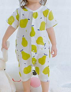 billige Babytøj-Baby Pige En del Afslappet/Hverdag Jacquard Vævning, Bomuld Sommer Kortærmet Normal Hvid Lyserød Gul Lysegrøn Lyseblå