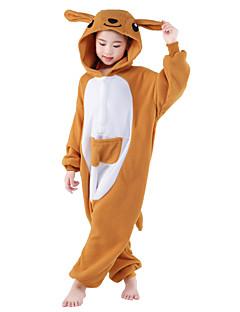 billige Kigurumi-Kigurumi-pysjamas Kenguru Onesie-pysjamas Kostume Polar Fleece Oransje Cosplay Til Barn Pysjamas med dyremotiv Tegnefilm Halloween