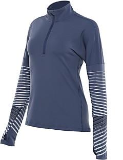 billige Løbetøj-Dame Løbe-T-shirt Sport T-Shirt - Langærmet Løb Hurtigtørrende Mørkeblå, Rose Rød, Lilla Ensfarvet