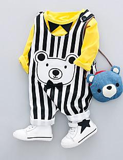 billige Sett med babyklær-Baby Drenge Trykt mønster Langærmet Tøjsæt