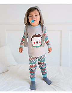 billige Undertøj og sokker til piger-Pige Nattøj Blomstret Grå