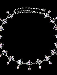 billige Trendy belter-Dame Vintage Kjede Strass / Legering