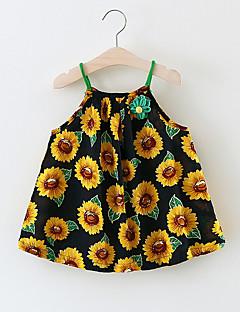 billige Babytøj-Baby Pige Blomstret Uden ærmer Bomuld