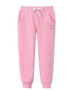 tanie Odzież dla chłopców-Spodnie Dla dzieci Jendolity kolor Zima Jesień Orange Blushing Pink Gray Purple