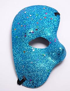 billige Halloweenkostymer-Karneval Masquerade Mask Blå / Gylden / Fuksia Plastikker Cosplay-tilbehør Maskerade Halloween-kostymer