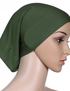 baratos Costumes étnicas e Cultural-Fantasias Egípcias Hijab / Khimar Mulheres Festival / Celebração Trajes da Noite das Bruxas Roxo Azul Ciano Marron Azul Verde Escuro