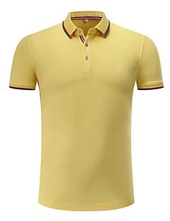 お買い得  メンズポロシャツ-男性用 Polo シャツカラー ソリッド ストライプ